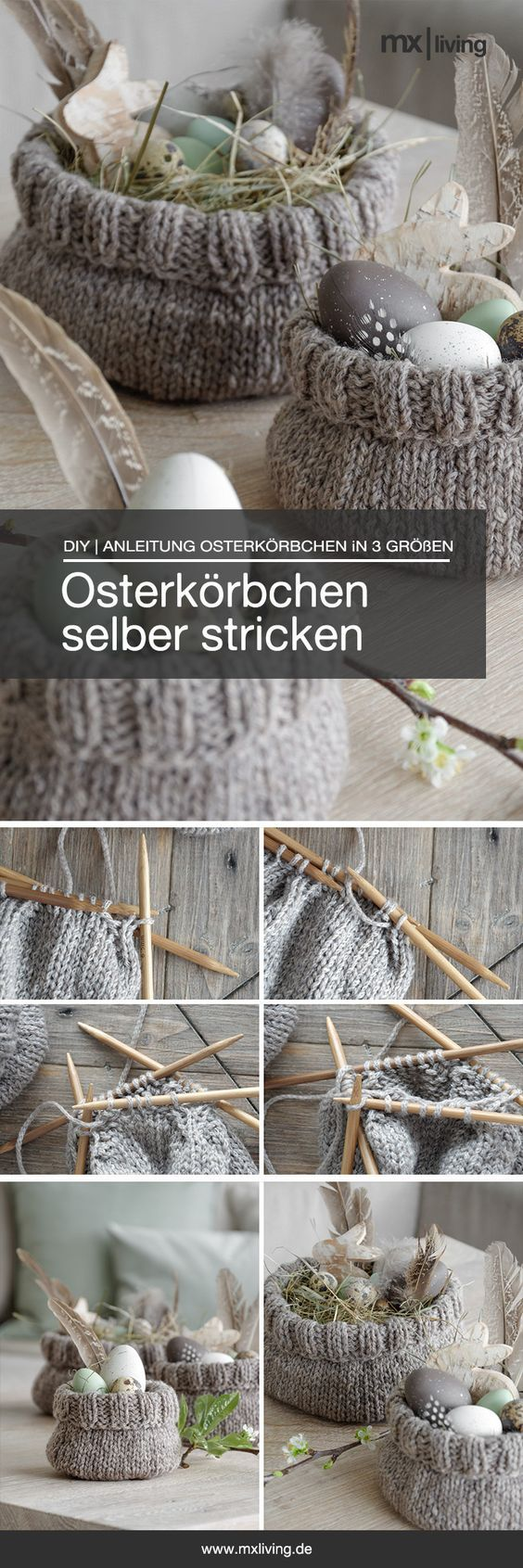 Photo of DIY | süße Osterkörbchen selber stricken – mxliving