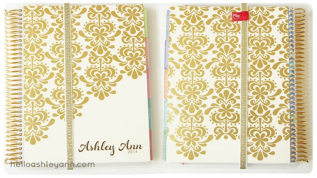 Erin Condren Gold Edition Planner - I love the gold foil on this planner.