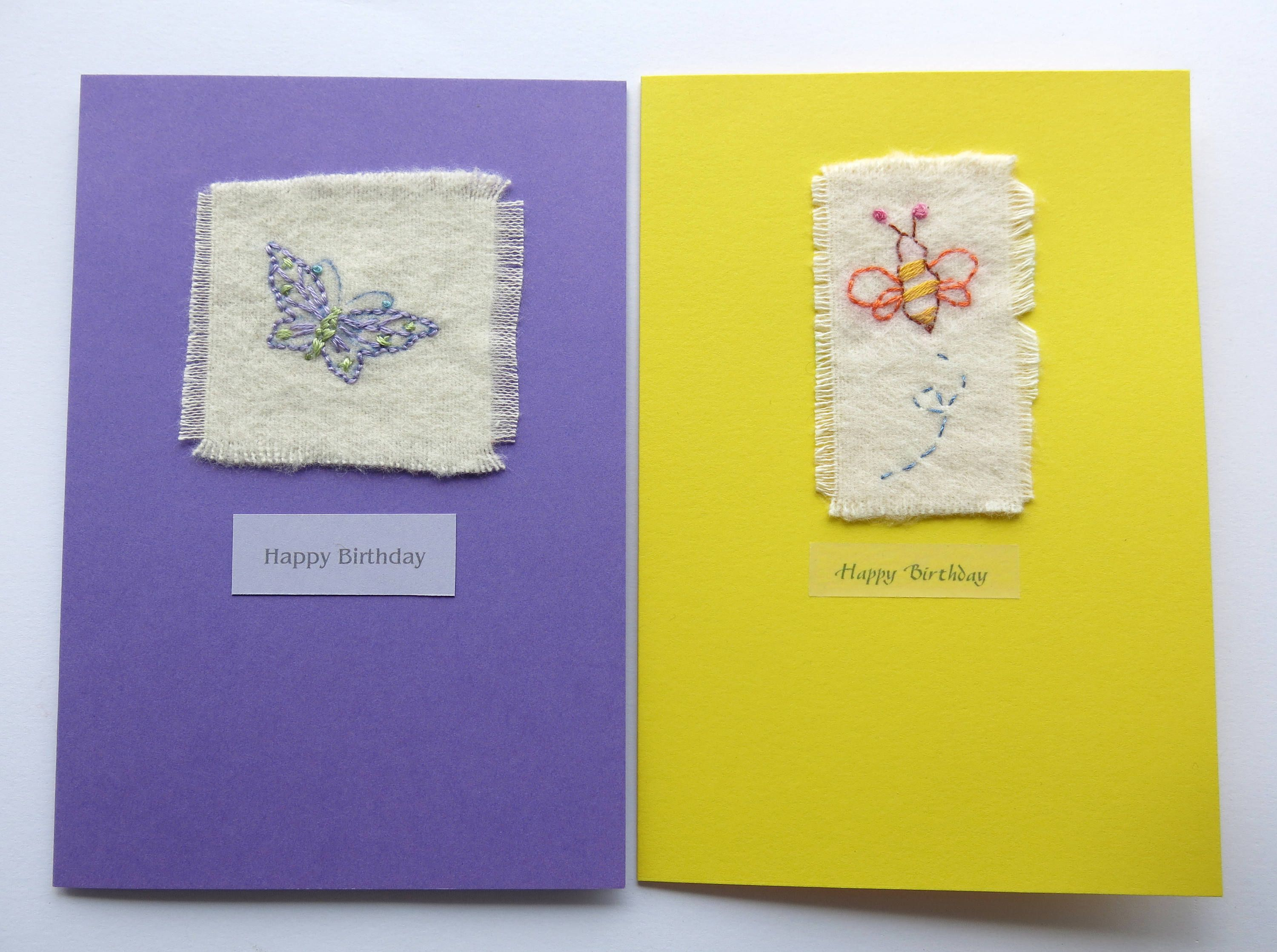 Embroidered card butterfly card greeting card birthday card card embroidered card butterfly card greeting card birthday card card blank card bee card hand embroidered card handmade uk seller stitched kristyandbryce Image collections
