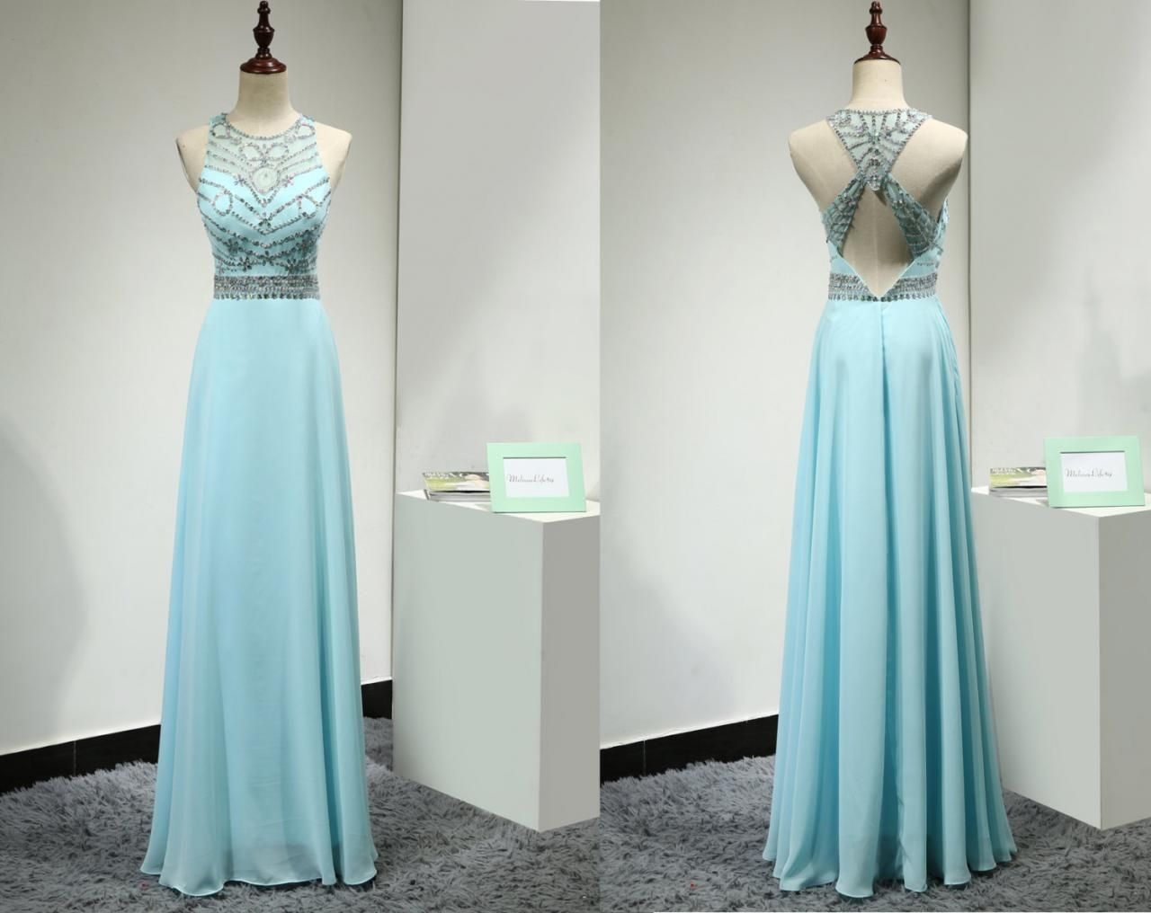 Light Blue Prom Dresses,Prom Gowns,Sparkle Prom Dresses,2016 Party ...