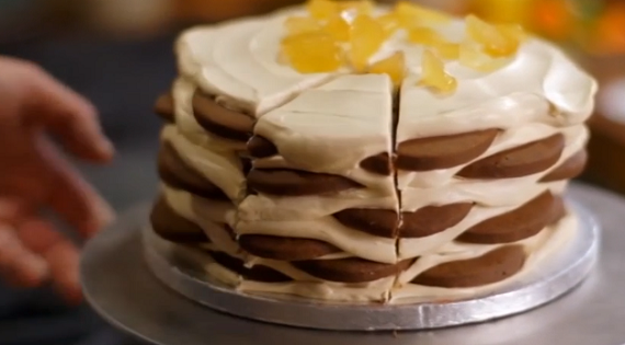 Ice Box Cake that needs no cooking on James Martin Home