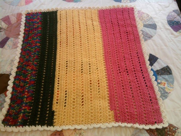 I Found This Wonderful And Easy Crocheted Wheelchair Lapghan Pattern