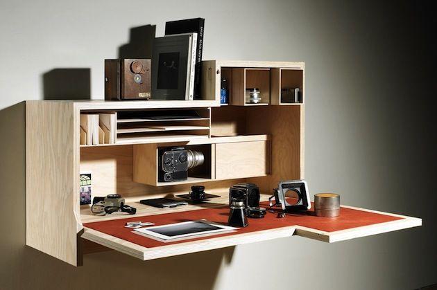 Falling Dansu A Wall Mounted Cabinet Desk By Joseph Walsh