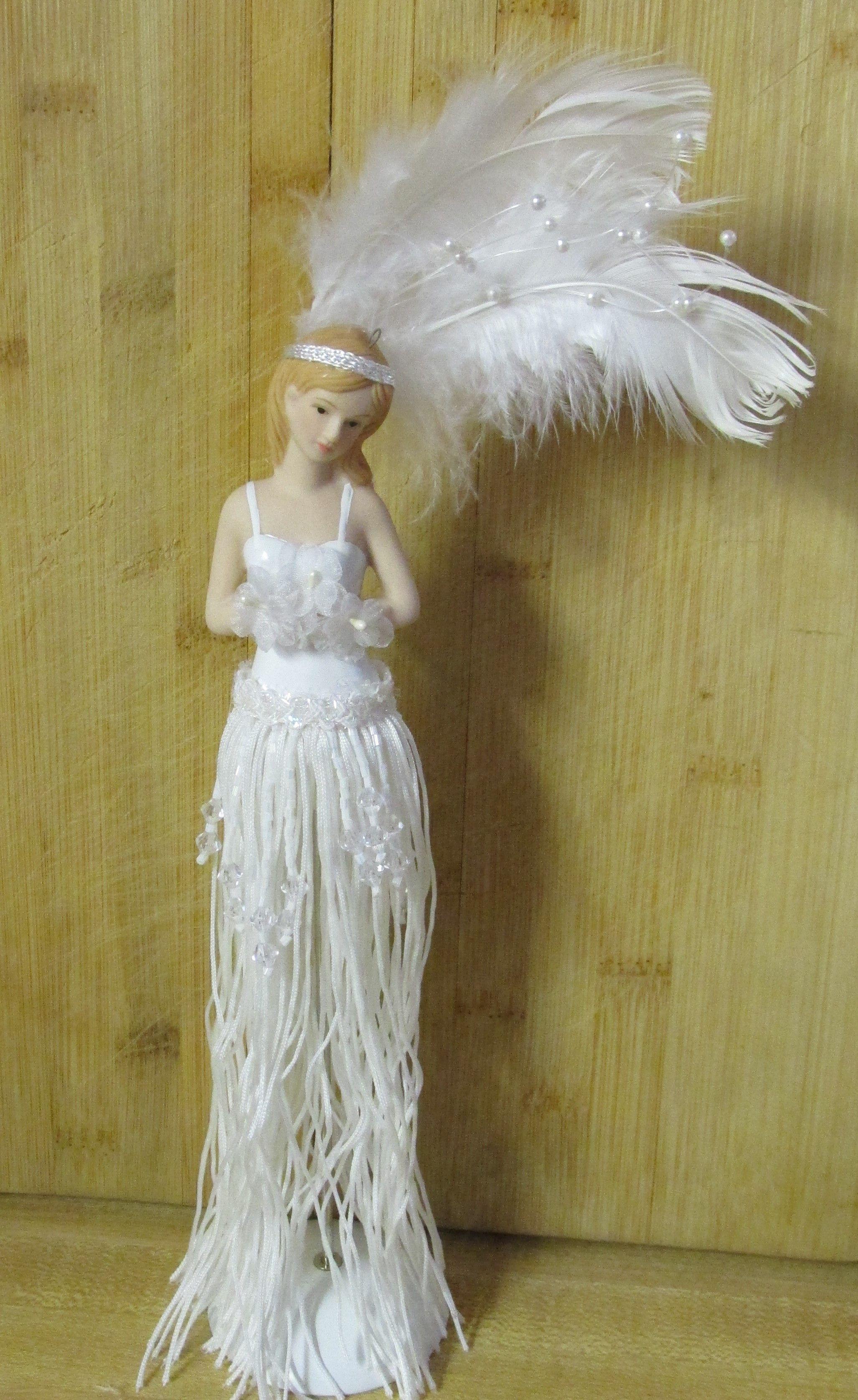 Lovely white tassel doll made from a kit...