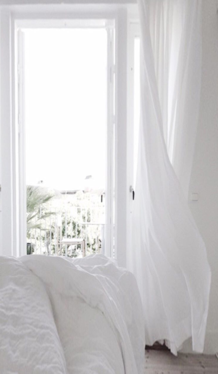 5 Elements To Create A Dreamy White Bedroom White Linen Curtains White Bedroom Bedroom Panel