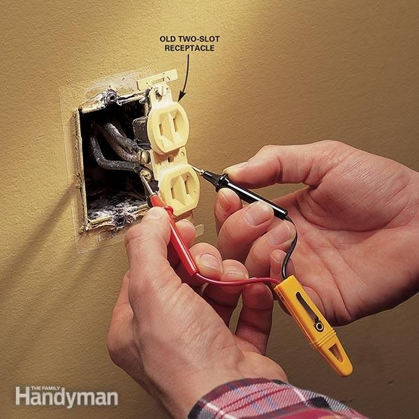 Replacing Electrical Outlet Outlets Slot and Third