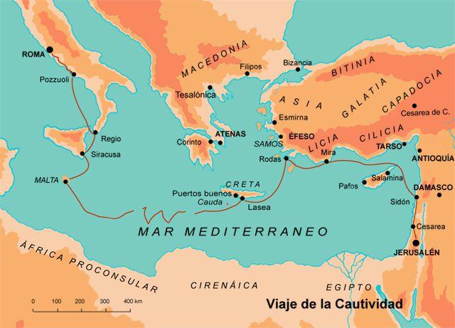 Viaje de la cautividad de pablo historia b blica for Cuarto viaje de san pablo