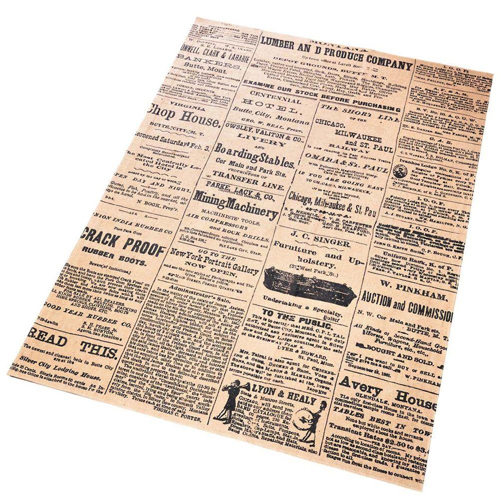 jute teppich newspaper 120x180 l ufer teppich dekoteppich flachflor carpet in m bel wohnen. Black Bedroom Furniture Sets. Home Design Ideas