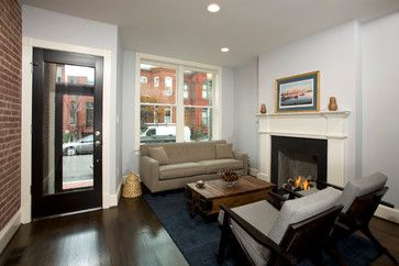 Rowhouse Renovation Transitional Living Room Dc Metro Four