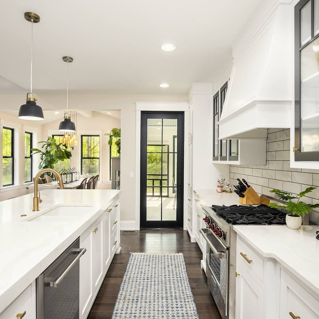 rick carly fresh coast flips on instagram chic black white kitchen with modern farmhouse on farmhouse kitchen black and white id=64837