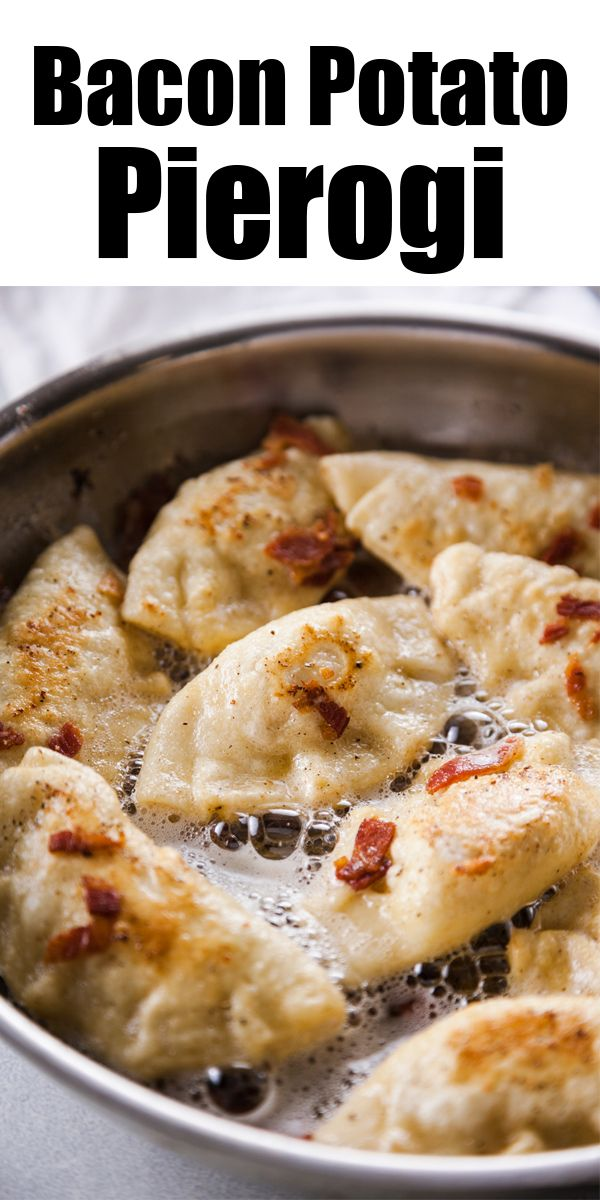 Potato and Bacon Pierogi