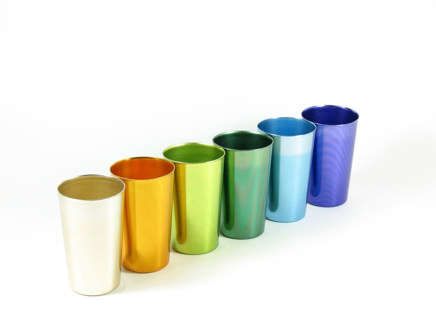 Colored aluminum drinkware...a must for the 60's BBQ