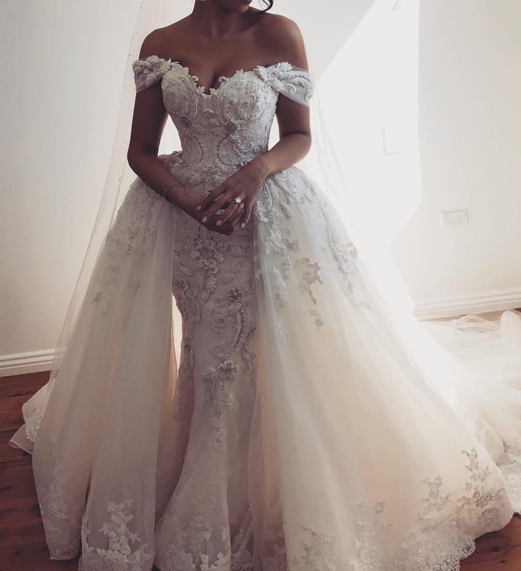 Pin von Love auf Wedding  Schulterfreies hochzeitskleid