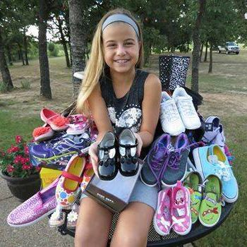 Reagan Chandler - Kind Kid collects/donates shoes instead of receiving birthday presents.