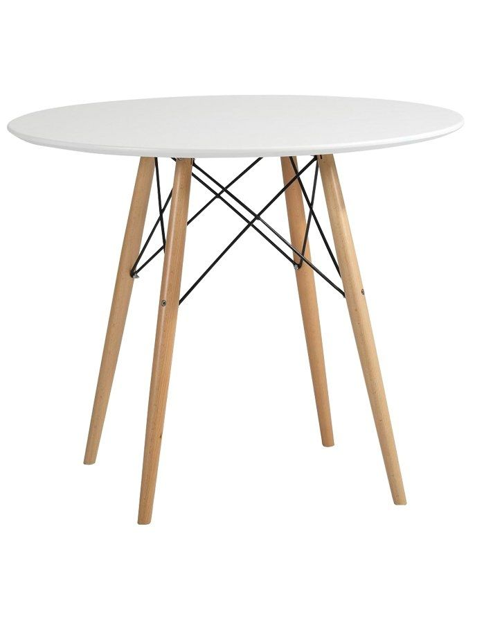 Zinzan Dining Table 90 Cm Fiberglass Dining Table Eames