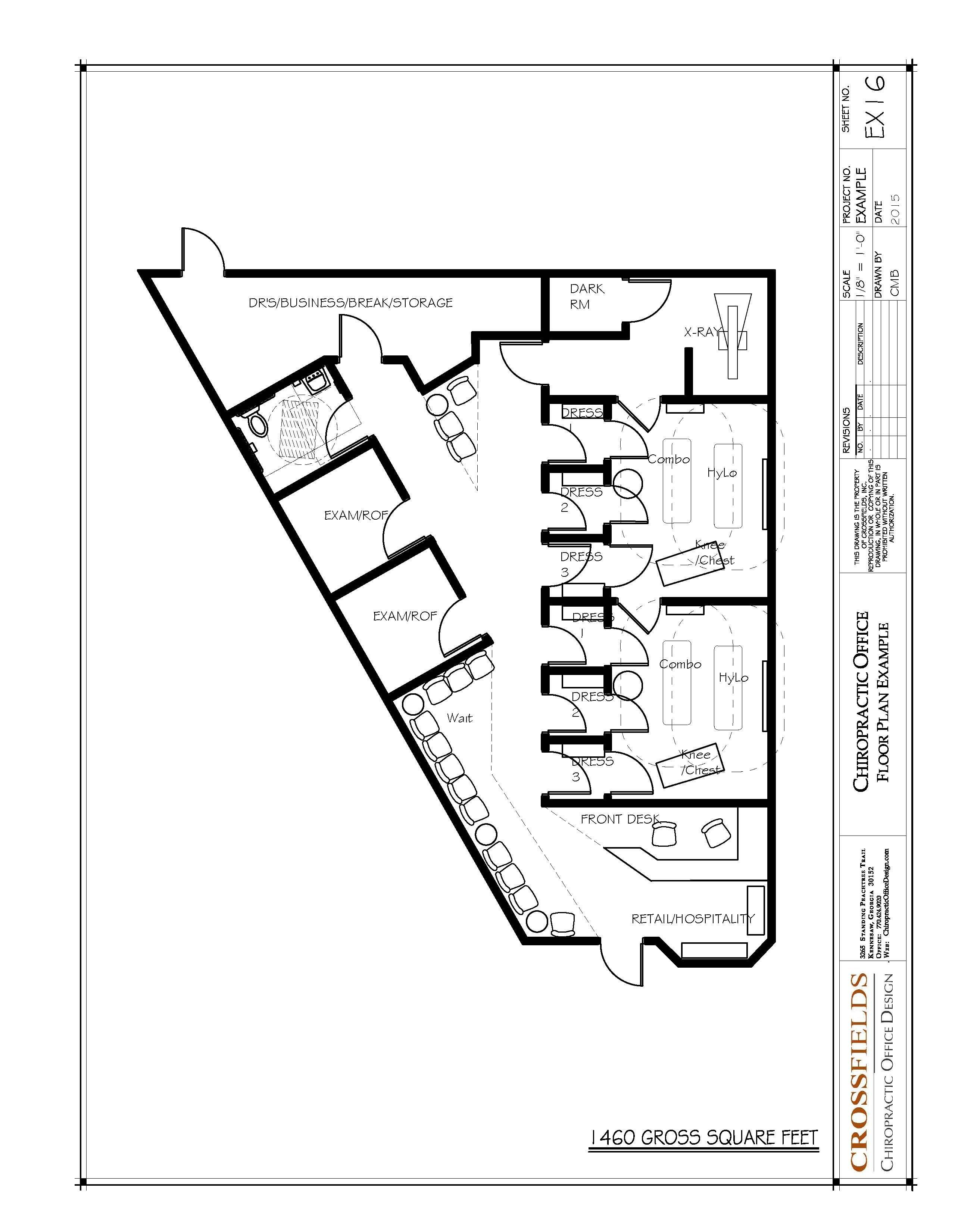 Chiropractic office floor plan gonstead method closed for Chiropractic office layout examples