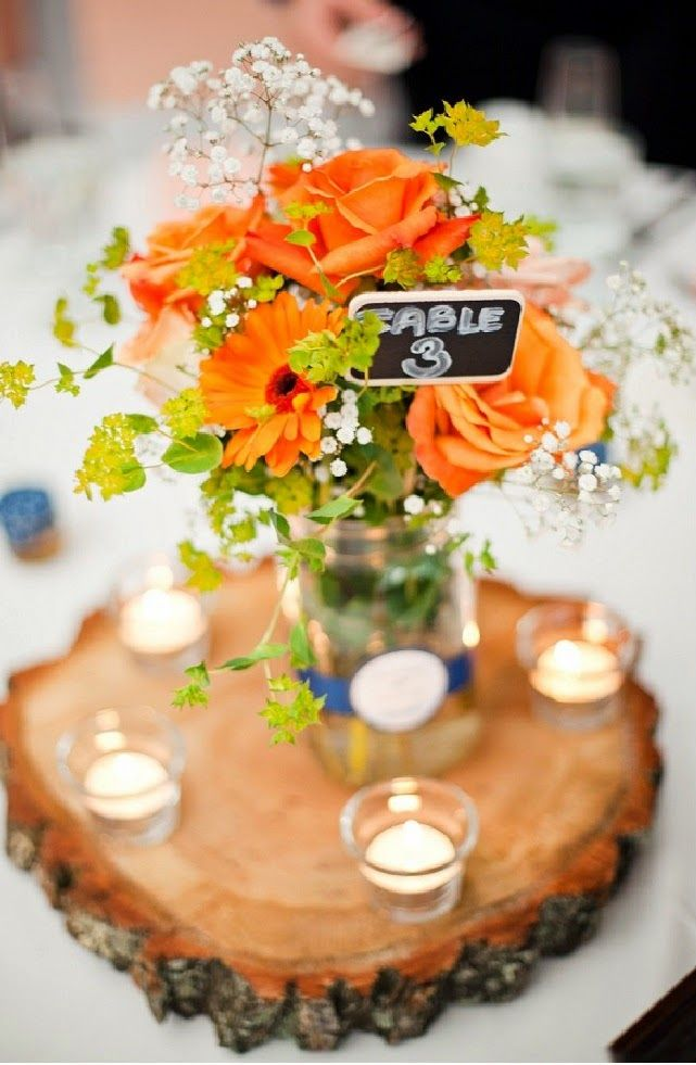 Country wedding floral inspiration country wedding centerpieces country wedding floral inspiration country wedding centerpieces orange and white wedding centerpiece junglespirit Image collections