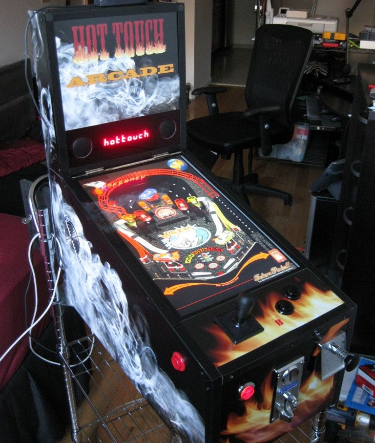 An awesome virtual pinball emulator cabinet with a flat