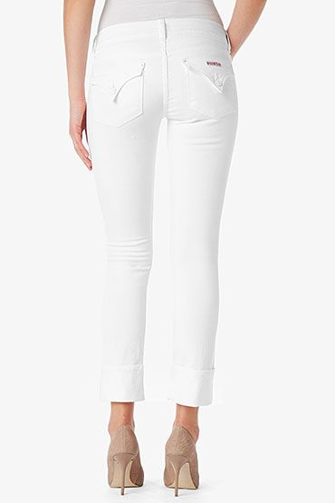 640380d9756 HUDSON, Ginny Crop Straight Cuffed, white, Women / Cropped, WC215DLW-WH2
