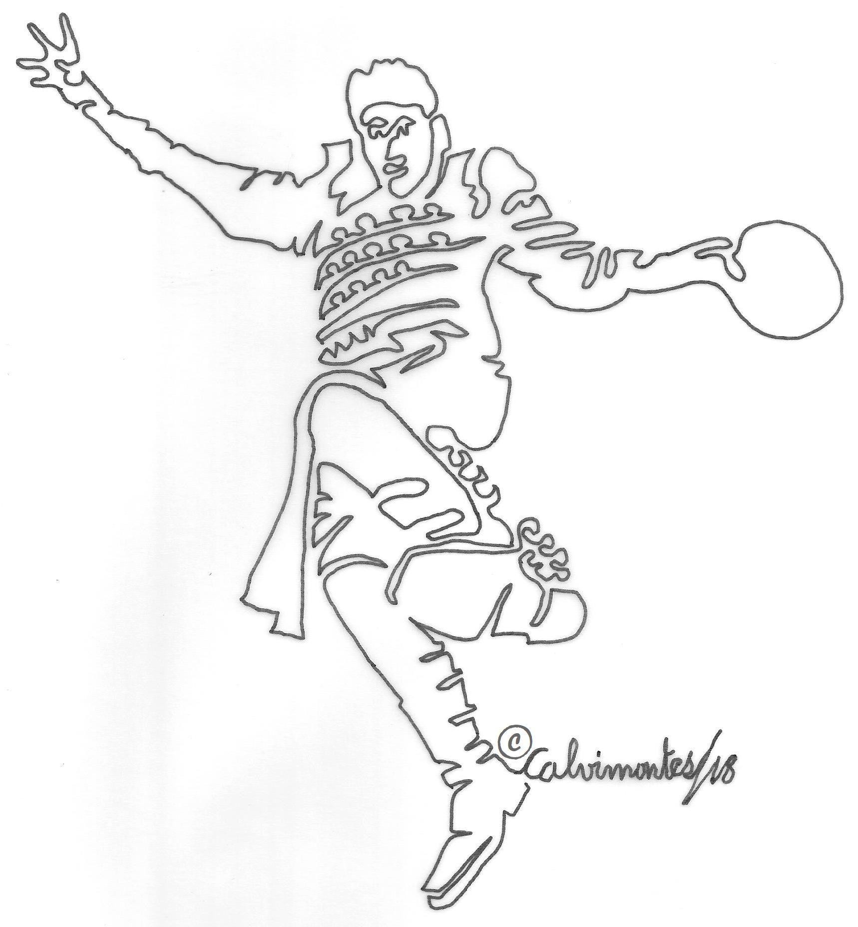 Caporal Personaje De Una Danza Folclorica Boliviana Con Un Solo Trazo Por Carlos Calvimontes Rojas Personajes Danza Folclorica Artistas