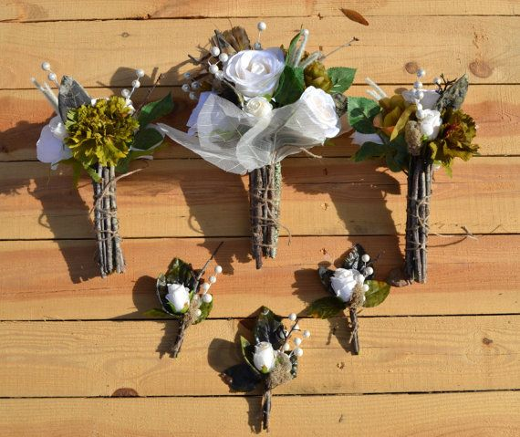 Hunting Camo Wedding Ideas: Love The Sticks For The Hand Tie