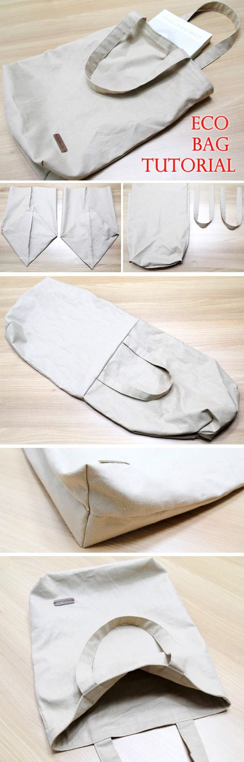 Canvas Tote Shopping Bag DIY Step by Step Photo Tutorial…