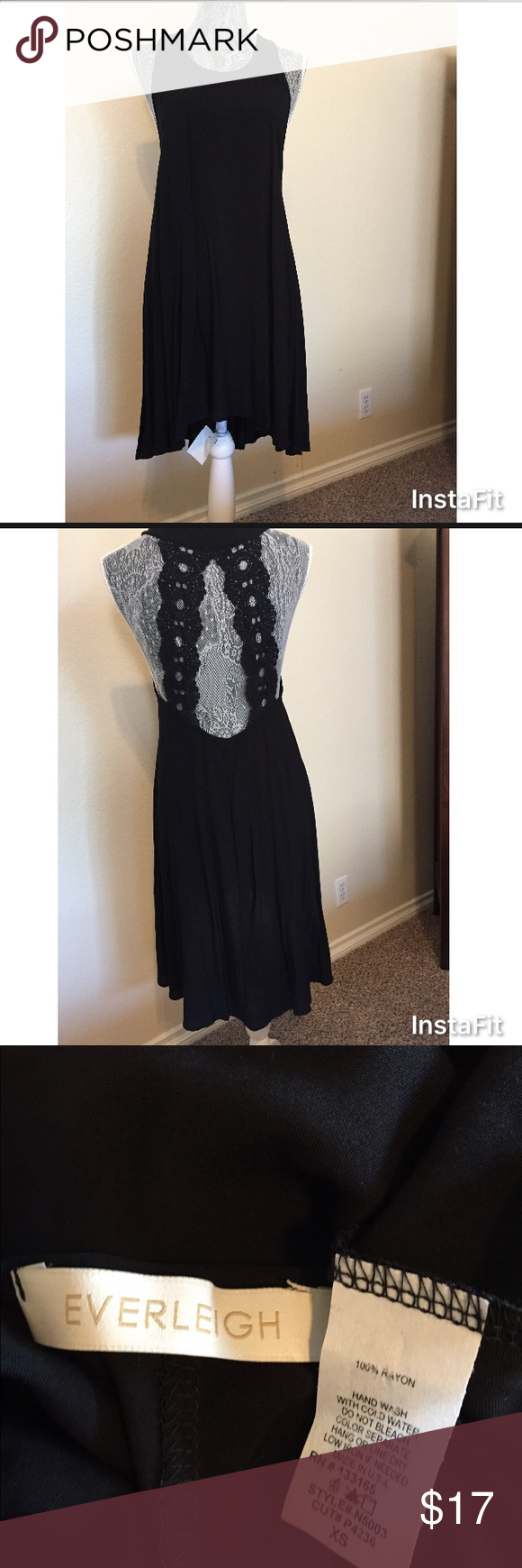 Everleigh open back lace strap tank dress my posh picks
