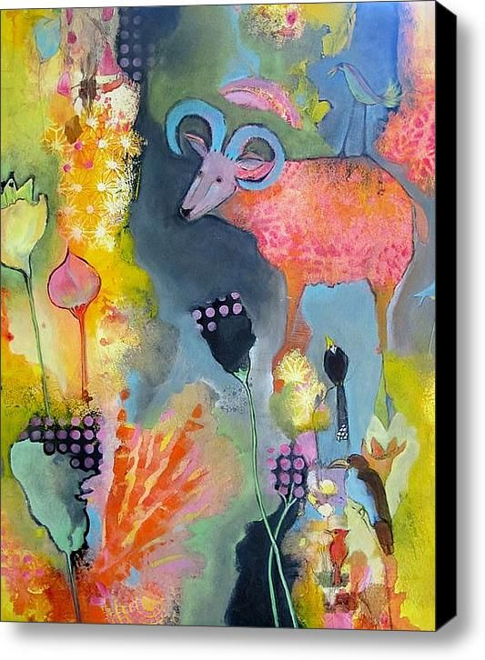 The Menagerie Stretched Canvas Print / Canvas Art By Chris Cozen
