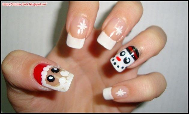 Santa Claus Nail Art Designs Nail Art Pinterest Santa Nail
