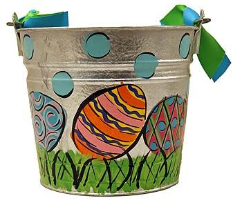 Hand painted easter eggs easter pail the mississippi gift easter gift baskets at the mississippi gift company your source for easter gifts easter gift ideas easter baskets and easter day gift baskets negle Image collections