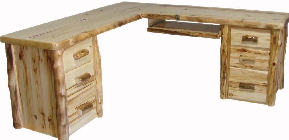 aspen log office furniture aspen log corner desk