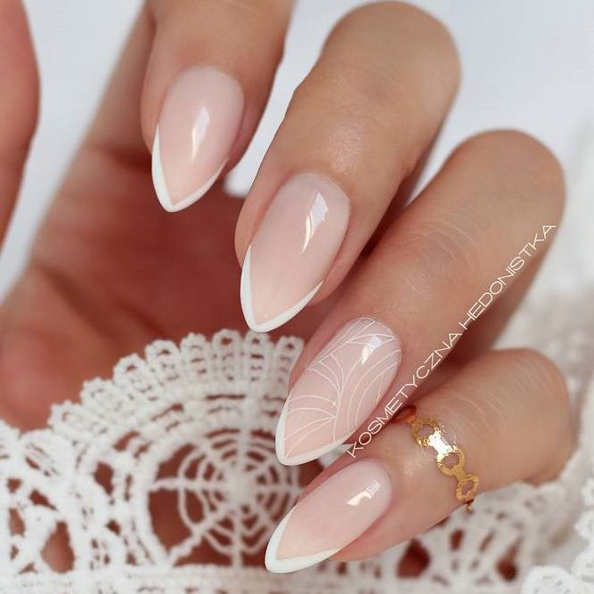 100+ New French Manicure Designs To Modernize The Classic Mani | French nails, Manicure, Manicures designs