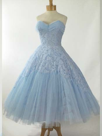 Retro Vintage Style 50s Tea Length Bridesmaid Prom Party Dress Dv1005 Beautiful Dresses Vintage Dresses Prom Party Dresses