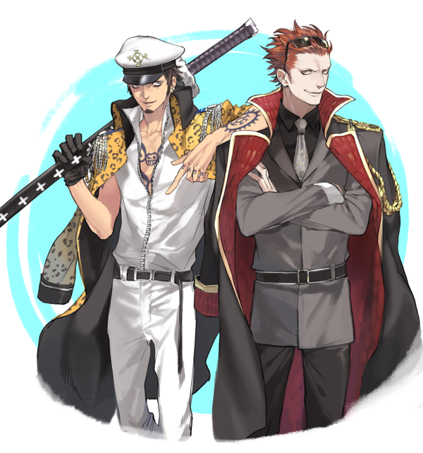 Manga Anime Pirates Marines: If Law And Kid Were Marines I'd Probably Start Rooting