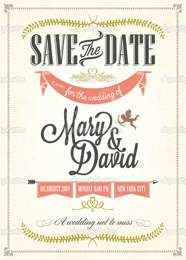 Download - Save The Date, Wedding Invitation Card u2014 Stock - download invitation card