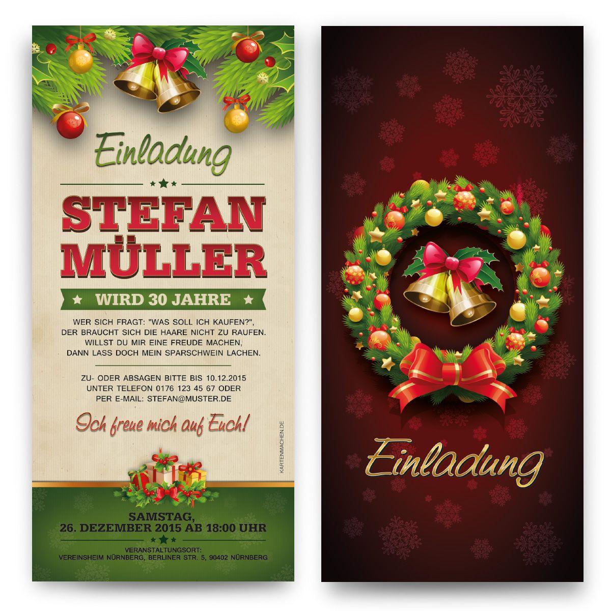 einladungskarten im weihnachten und advents motiv einladung einladungskarten party. Black Bedroom Furniture Sets. Home Design Ideas