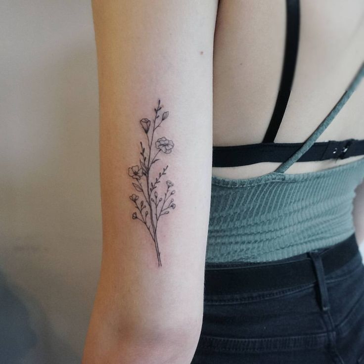 Small Wildflower Tattoos With Images Tattoos Tricep Tattoos
