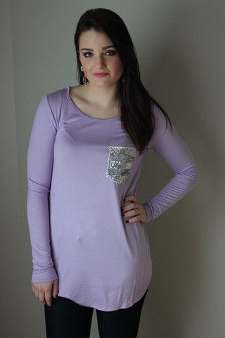 Sequins and Diamonds Top, Lavender – Sisterly Chic Boutique