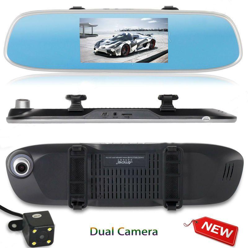 Xgody 4.5'' Car Dvrs Rearview Mirror Camera Full Hd 1080p Recorder G-Sensor Loop-Cycle Recording Parking Monitoring Dash Cam