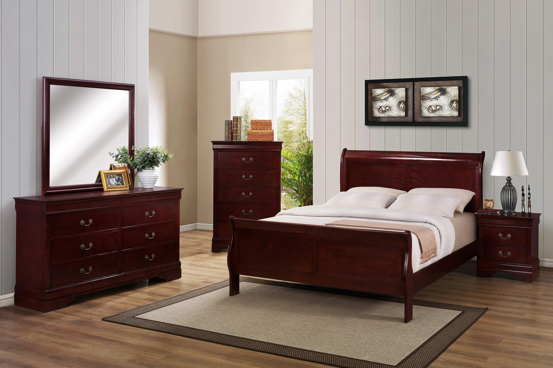 b3800 louis phillipe queen bedroom groupcrown mark at