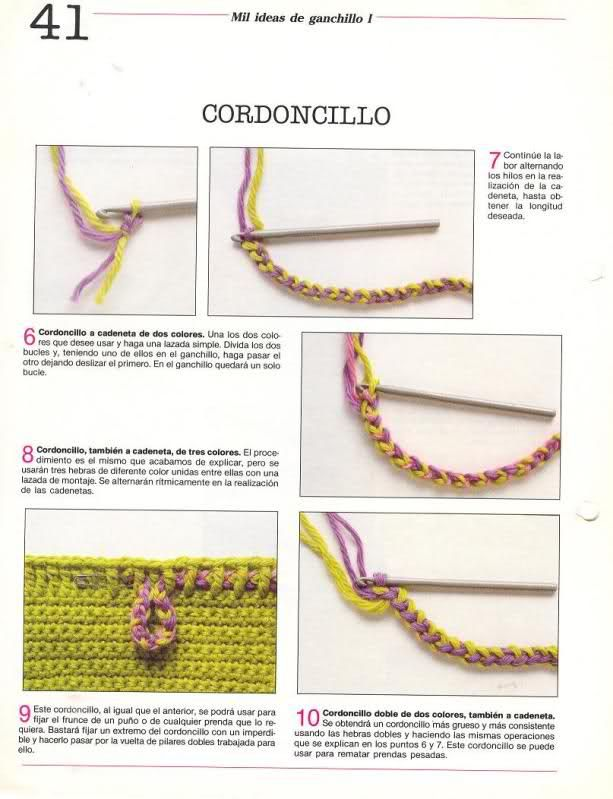 cordoncillo - crochet cord | Creative ideas | Pinterest | Cordones ...