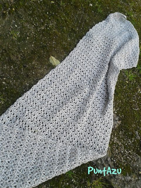 Crochet. Bufanda o chal. Patrón gratis | crochet | Pinterest | Chal ...