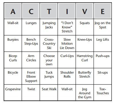 Fitness Bingo Warm-Up - Tap the pin if you love super heroes too ...