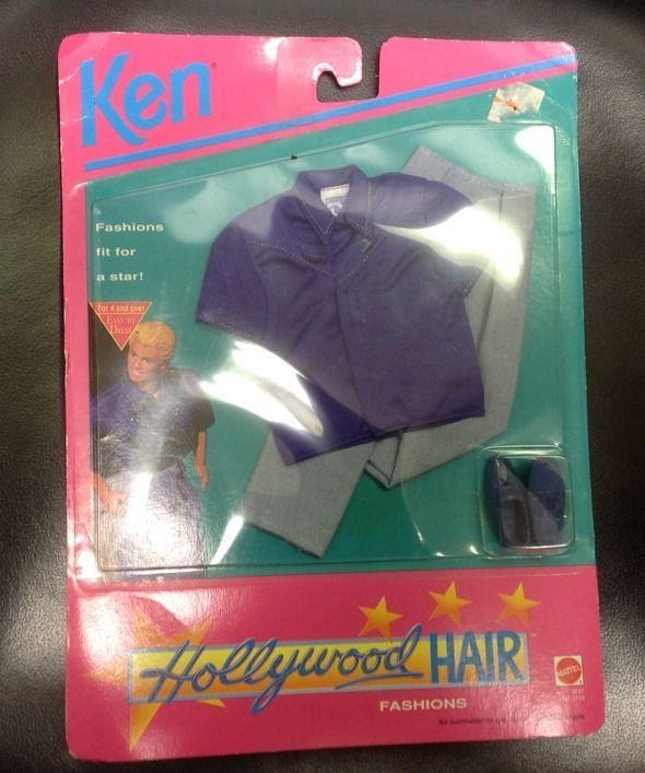 Ken Hollywood Hair Fashions  #3747 1992 Clothes NIP               2134 #Mattel