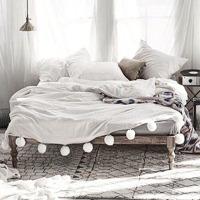 Boho Chic Beds Another Pom Bedspread