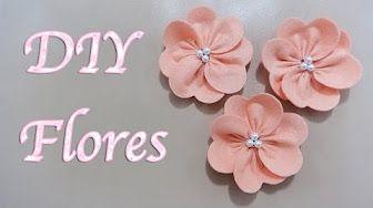flores para tocados - YouTube