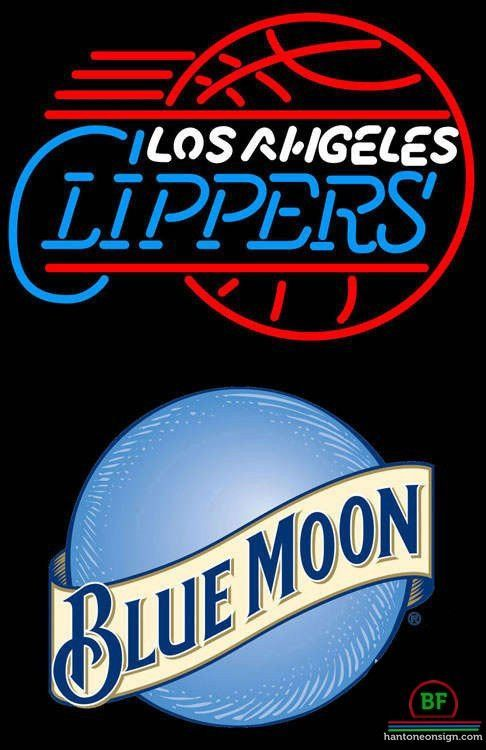 Neon Signs Los Angeles Blue Moon Los Angeles Clippers Neon Sign Nba Teams Neon Light  Los