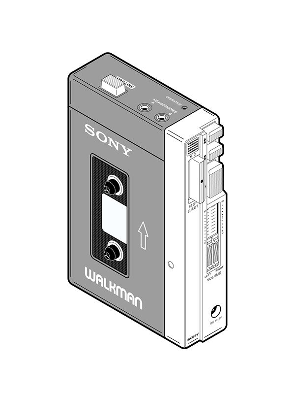 Sony Walkman Portable Audio Cassette Player  Model Tps