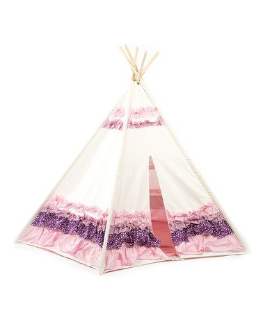Look what I found on #zulily! Purple & Pink Ribbon Tepee Tent #zulilyfinds