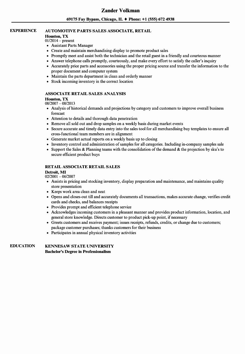 23 Resume Examples for Sales associate in 2020 Sales
